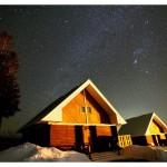 星空とコテージ村
