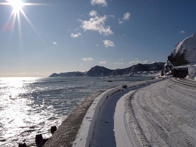 冬の南向き~えりも岬方面へ