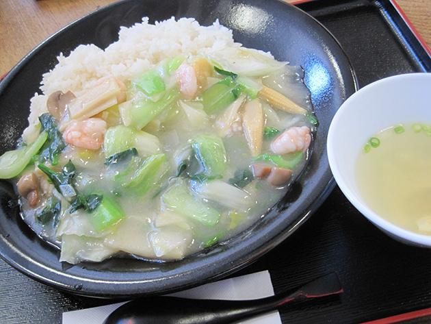 中国菜館 翡翠樓 芝エビあんかけご飯